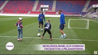 Nevelőszülőknél élő gyerekek focizhattak példaképükkel