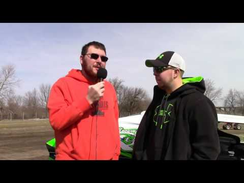 Jordan Smith Interview at Farmer City Raceway Practice day 1, 3 6 16