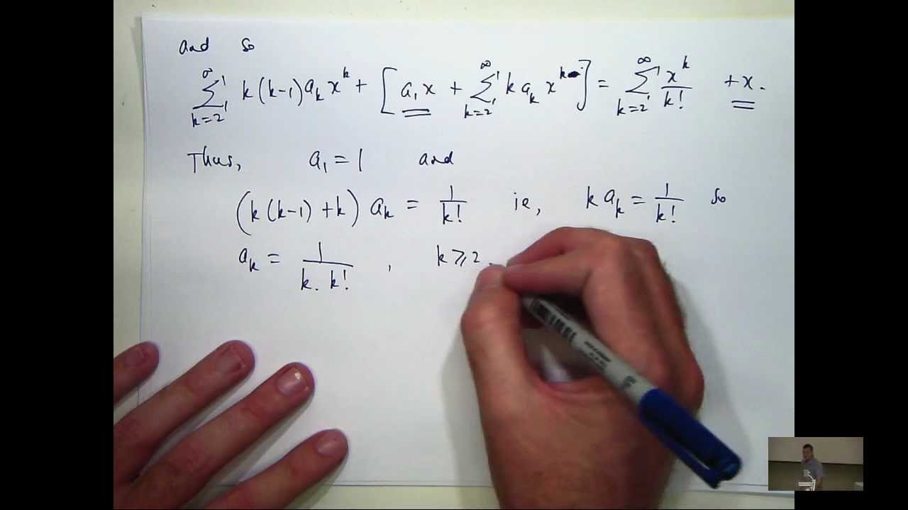 Power series solution to differential equations: a tutorial