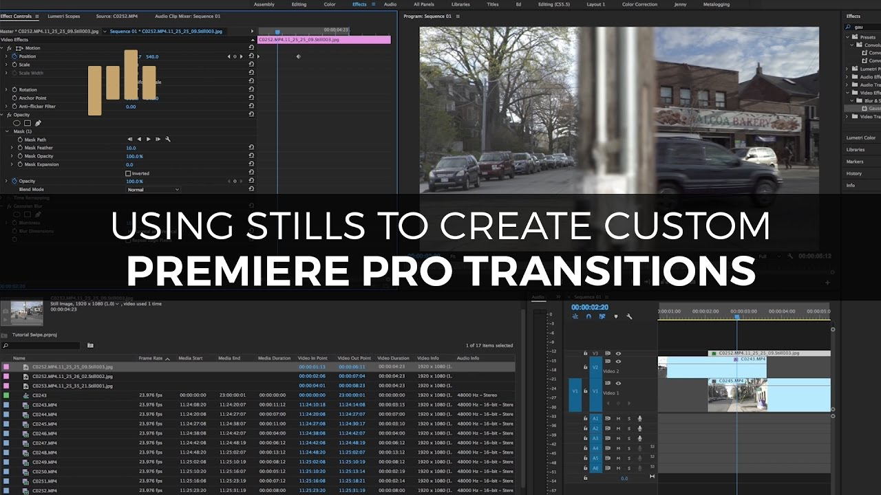 Video Tutorial: Creating an Animated Swipe Transition