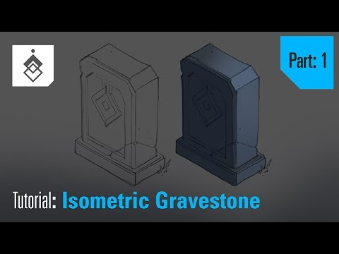 Tutorial – Drawing and Painting an Isometric Gravestone – Part 1
