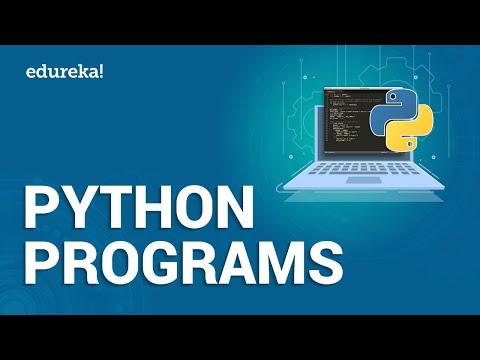 Python Programs |  Fibonacci Series, Interview Programs, Pattern Programs in Python | Edureka