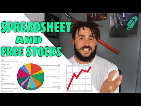 How To Track Dividend Income (SPREADSHEET) - Opening FREE Robinhood Stocks