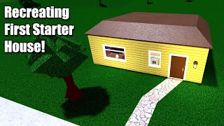 Recreating The FIRST STARTER HOUSE in Bloxburg!! • Roblox