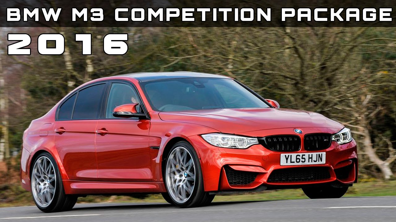 2016 bmw m3 competition package review rendered price specs release