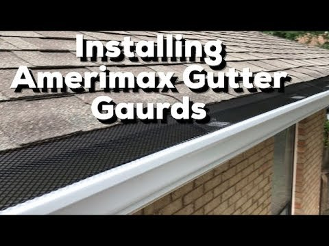 How To Install Amerimax Gutter Guards Easy Diy Youtube