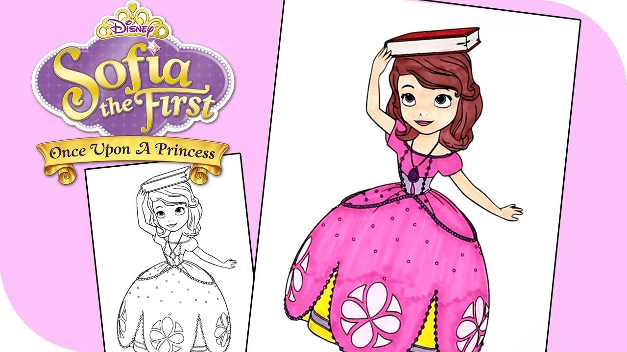 Sofia the First Coloring Pages | DISNEY PRINCESS Sofia Coloring Book Videos