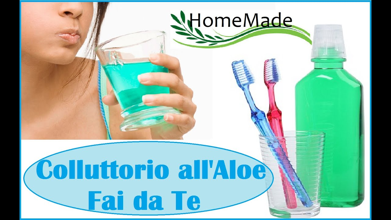 Collutorio all 39 aloe fai da te mouthwash diy youtube for Rastrelliera fucili fai da te