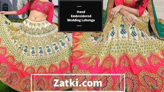 Original *Zatki.com-@Affordable Wedding wear hand embroidered lehenga Honest Review