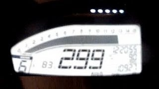299km/h street racing on Honda CBR 1000RR SC59 2012 Vmax