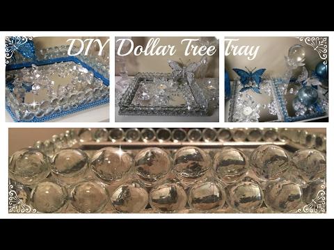 DOLLAR TREE VANITY TRAY D.I.Y - THE ORIGINAL GEM TO MIRROR TECHNIQUE