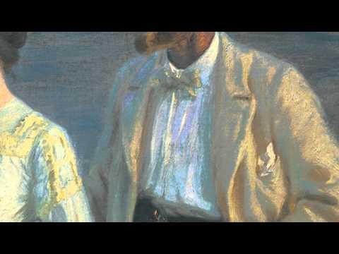"""Adam Price talks about P.S. Krøyer's """"Summer evening on the beach at Skagen"""" 1899"""