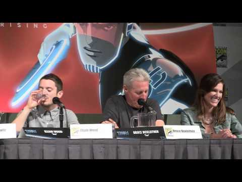 Full Tron: Uprising panel with Elijah Wood, Bruce Boxleitner, at San Diego Comic-Con 2012