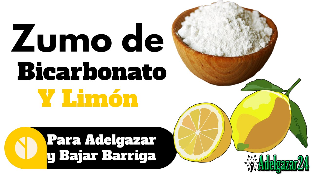 bajar de peso bicarbonato y limon