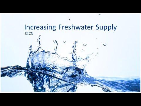 Increasing Freshwater Supply