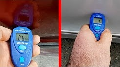 Car Check on Road Accident / Review and test AllSun EM2271 Paint Thickness Tester Auto Coating