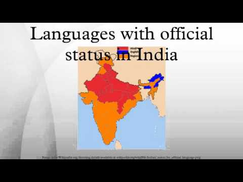 Languages with official status in India