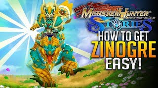 Monster Hunter Stories E10  - How to Get Zinogre Easy! Deviljho Attacks! [Android/ios]