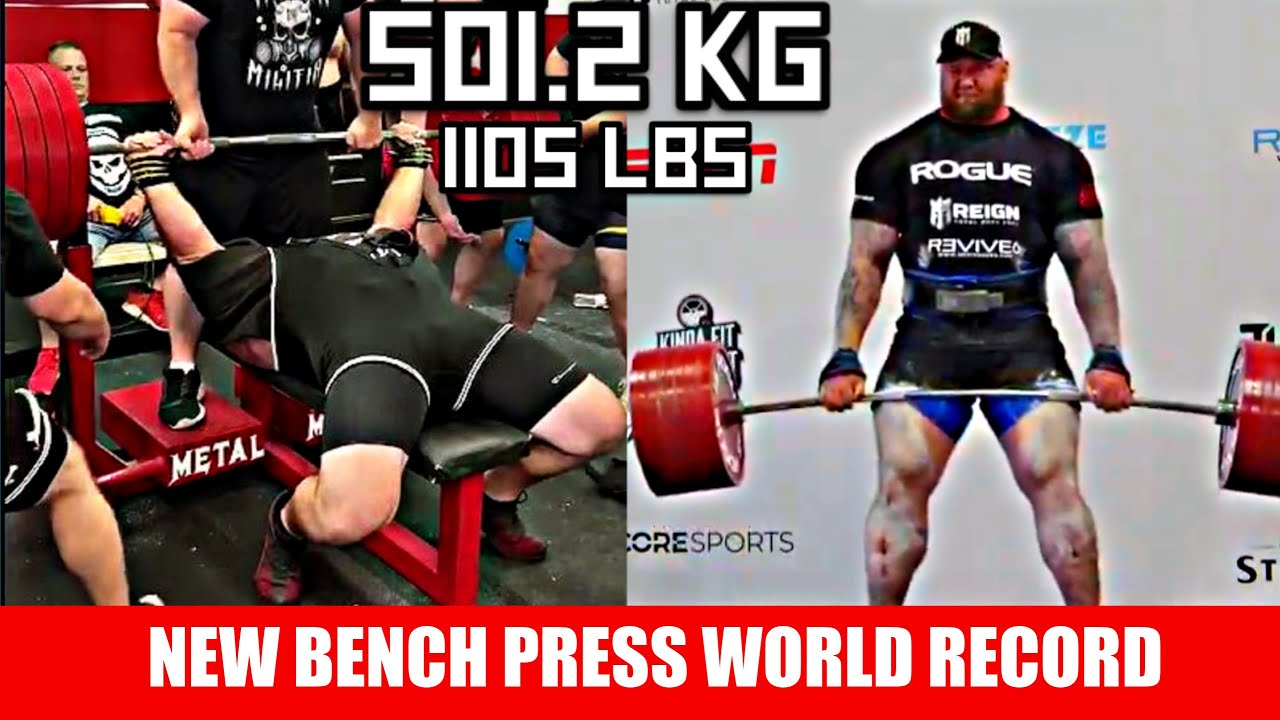 New Bench Press World Record Is Heavier Than Thor S Deadlift 501 2kg Youtube