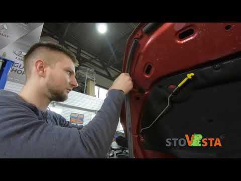 Установка уплотнителя капота и дверных проёмов Lada Vesta