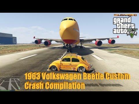 GTA V: 1963 Volkswagen Beetle Custom Crash Compilation