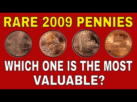 Rare 2009 penny coins worth money! Valuable 2009 pennies to look for!