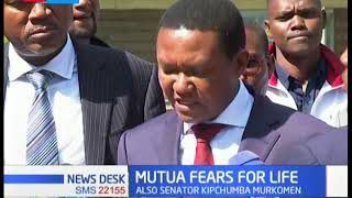 Governor Alfred Mutua claims his life is in danger, points fingers at DP Ruto, Duale and Murkomen