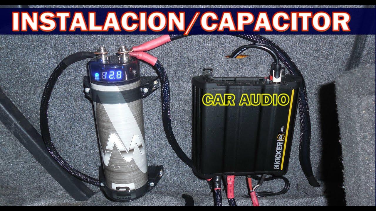 Como Instalar Un Capacitor Para Amplificador Y Para Que Sirve Car Audio Youtube