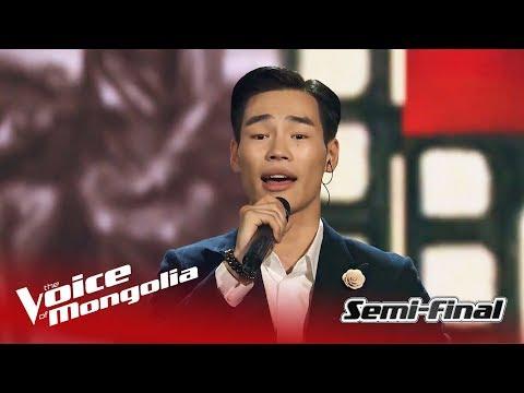 "Usukhbayar - ""Khair""   Semi Final   The Voice of Mongolia 2018"