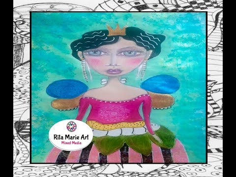 Mixed Media - Funky Fairy by Rita Marie