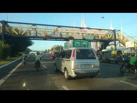 Philippines, Quezon City, driving along Commonwealth Ave