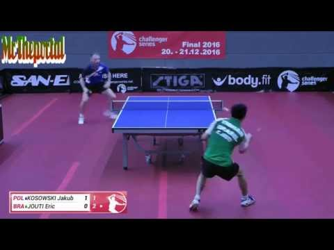 Table Tennis Challenger Series 2016 - Eric Jouti Vs Jakub Kosowski -