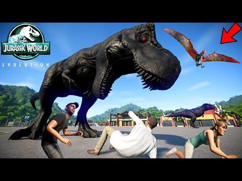 T-Rex Vs Triceratops Vs Stegosaurus Vs Stegoceratops Breakout & Fight   Jurassic World Evolution letöltés