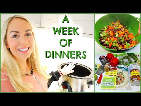 A WEEK OF FAMILY DINNERS #2 | DINNER INSPO & WHAT I EAT | EMILY NORRIS