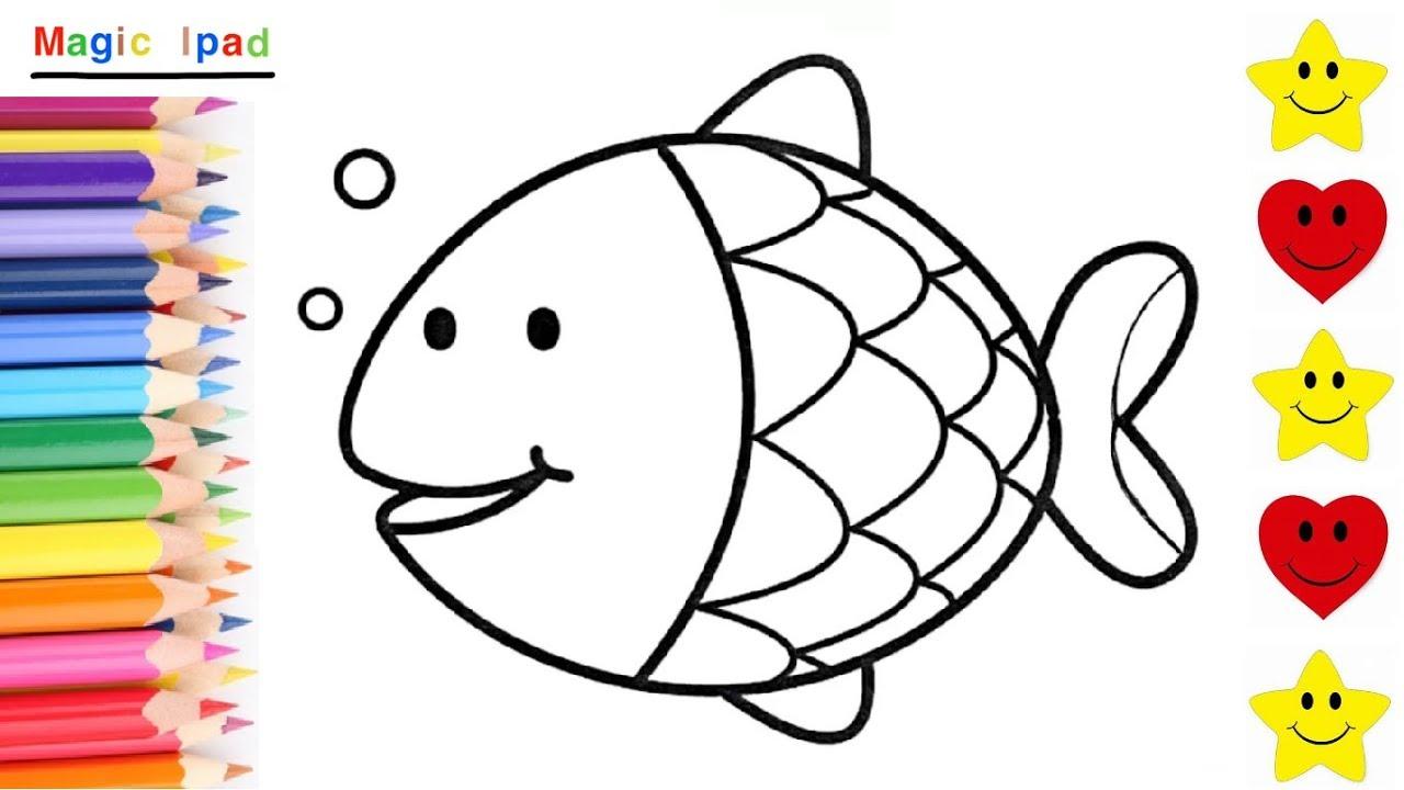 Como Dibujar Y Colorear Un Pez Arcoiris How To Draw A