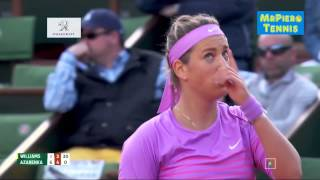 Serena Williams vs Victoria Azarenka Roland Garros 2015 Highlights