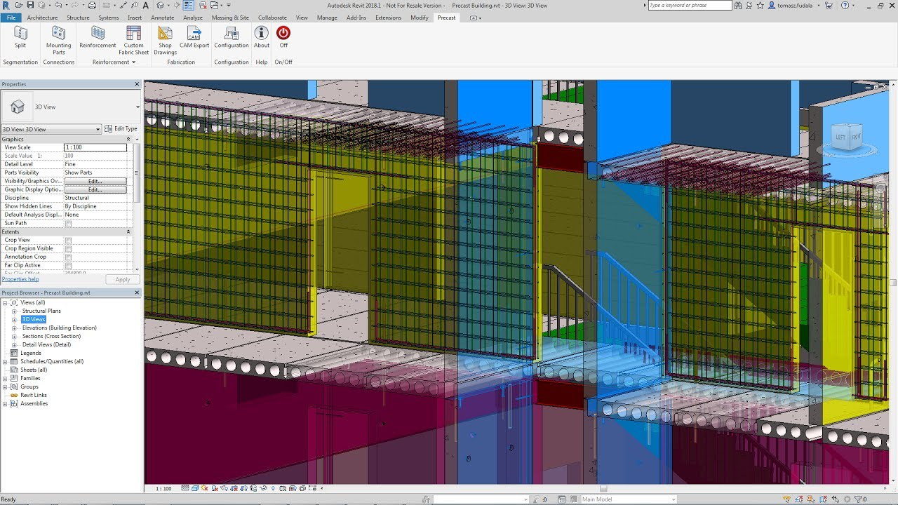 Autodesk Structural Precast Extension for Revit concrete design software overview