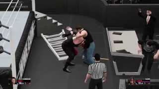 WWE 2K15 Universe - Dean Ambrose vs Kane Epic Last Man Standing Match (Elimination Chamber PPV)