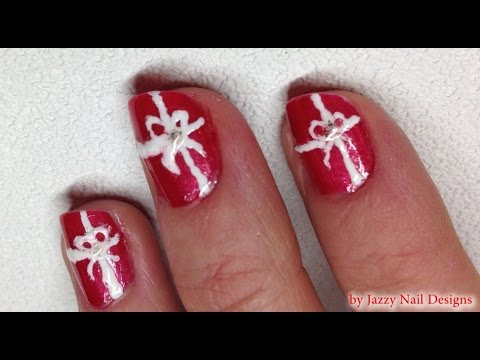Holiday Christmas Present Nail Art Super Cute And Easy Christmas