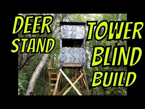 Tower Blind Deer Stand Build (W/Plans!) 2018