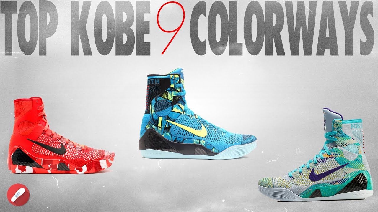 online store 1222d d88f3 Top Nike Kobe 9 Elite Colorways!