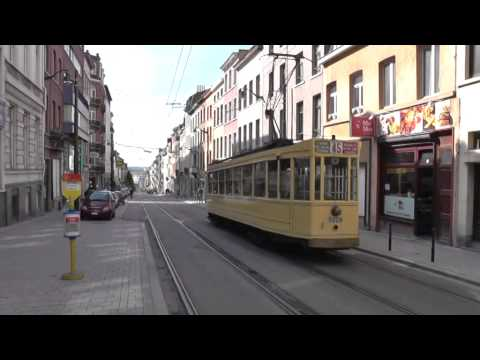 Brussels City Tramways vintage tram operation.