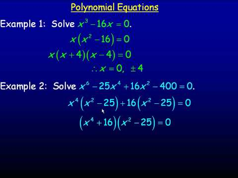 how to find polynomials given equation