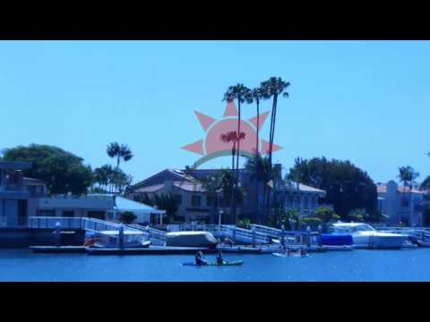 Long Beach Alamitos Bay Slow Zoom Out B 01 STOCK FOOTAGE