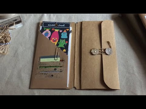 Traveler's notebook kraft folder insert tutorial