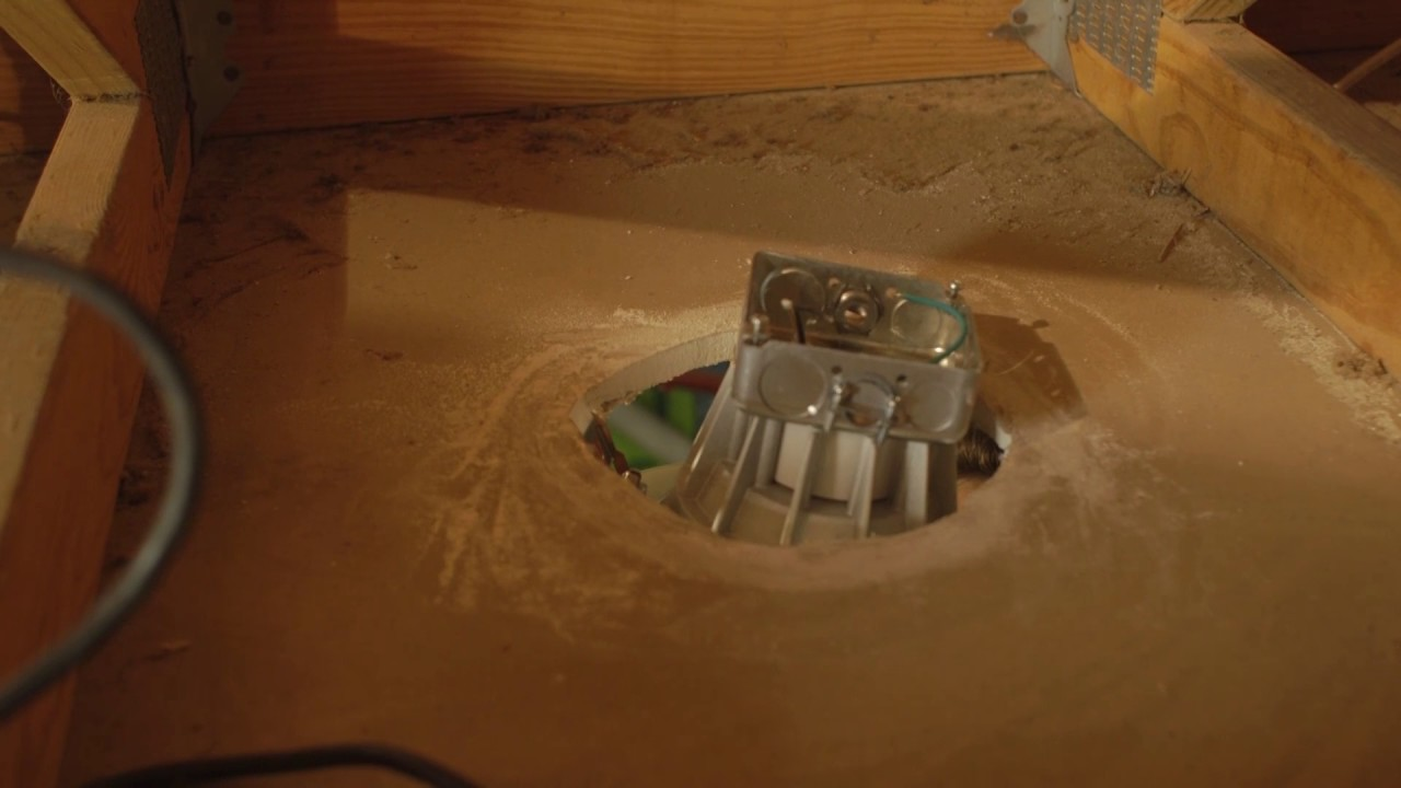 how to install can free led downlights in drywall ceiling