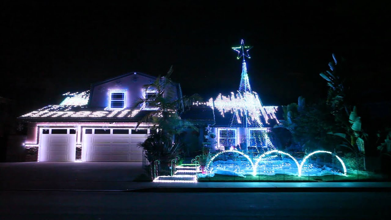 Lovely Christmas Light Show 2011 In Fountain Valley, CA By Devers Dream Weavers  54,020 LEDs No.3   YouTube