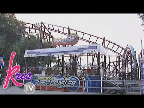 Carmela, Darla, Bimby and Yaya Gerbel ride the roller coaster