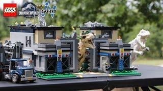 HUGE LEGO Jurassic World InGen Facility MOC! // 5,000+ Pieces, 2 Floors // Full Walk-Through!