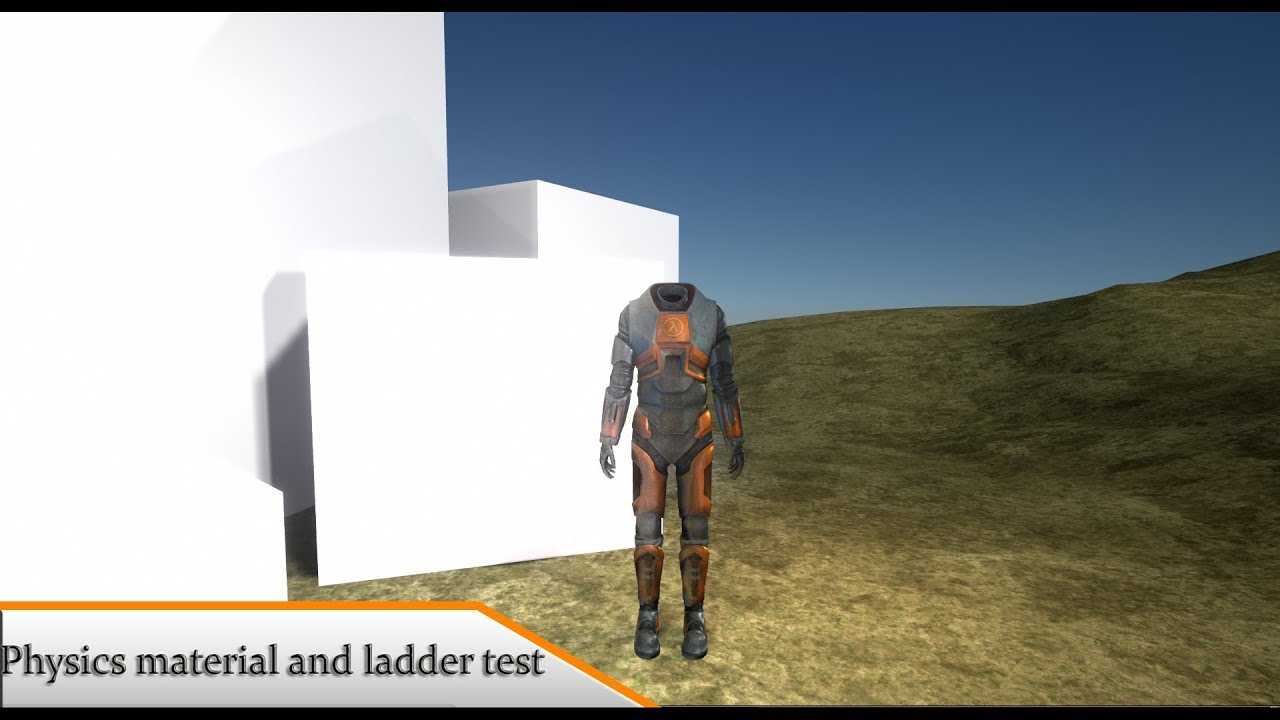 ▼[UE4] Half life 2 : Physics material and ladder test (Project Freeman)